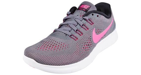 Nike Free RN Shoes Women dark grey/pink blast-black-cool grey